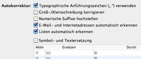 Apple Pages Einstellungen Autokorrektur