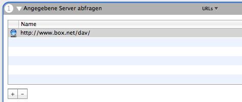 Automator Backup | Angegebene Server abfragen