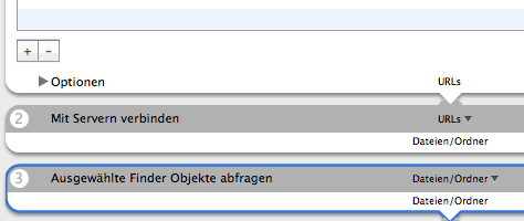 Automator Backup | Ausgewählte Finder Objekte abfragen
