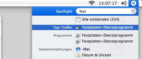 Mac OS X Sicherung | Schritt 1