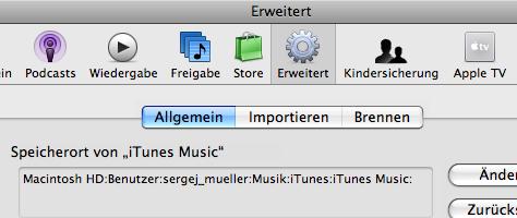 iTunes Einstellungen Zurücksetzen
