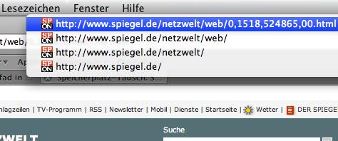 Pfad im Titel bei Spiegel.de