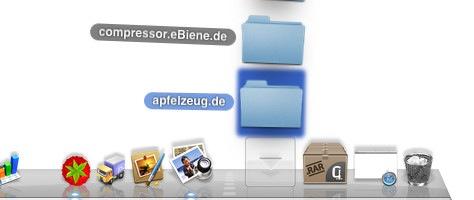 Stacks in Mac OS X: Mit Pfeilen durch die Elemente blättern