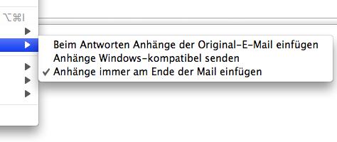 Anhänge immer am Ende der E-Mail einfügen