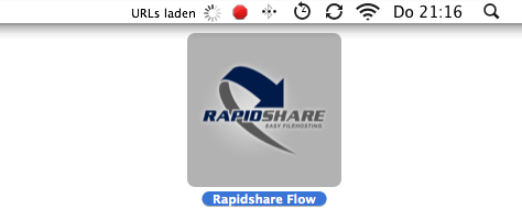 RapidShare in der Seitenleiste