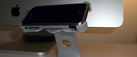 Passen gut zueinander: Alu-iMac und Xtand