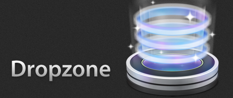 Dropzone kann Bilder und Texte verarbeiten